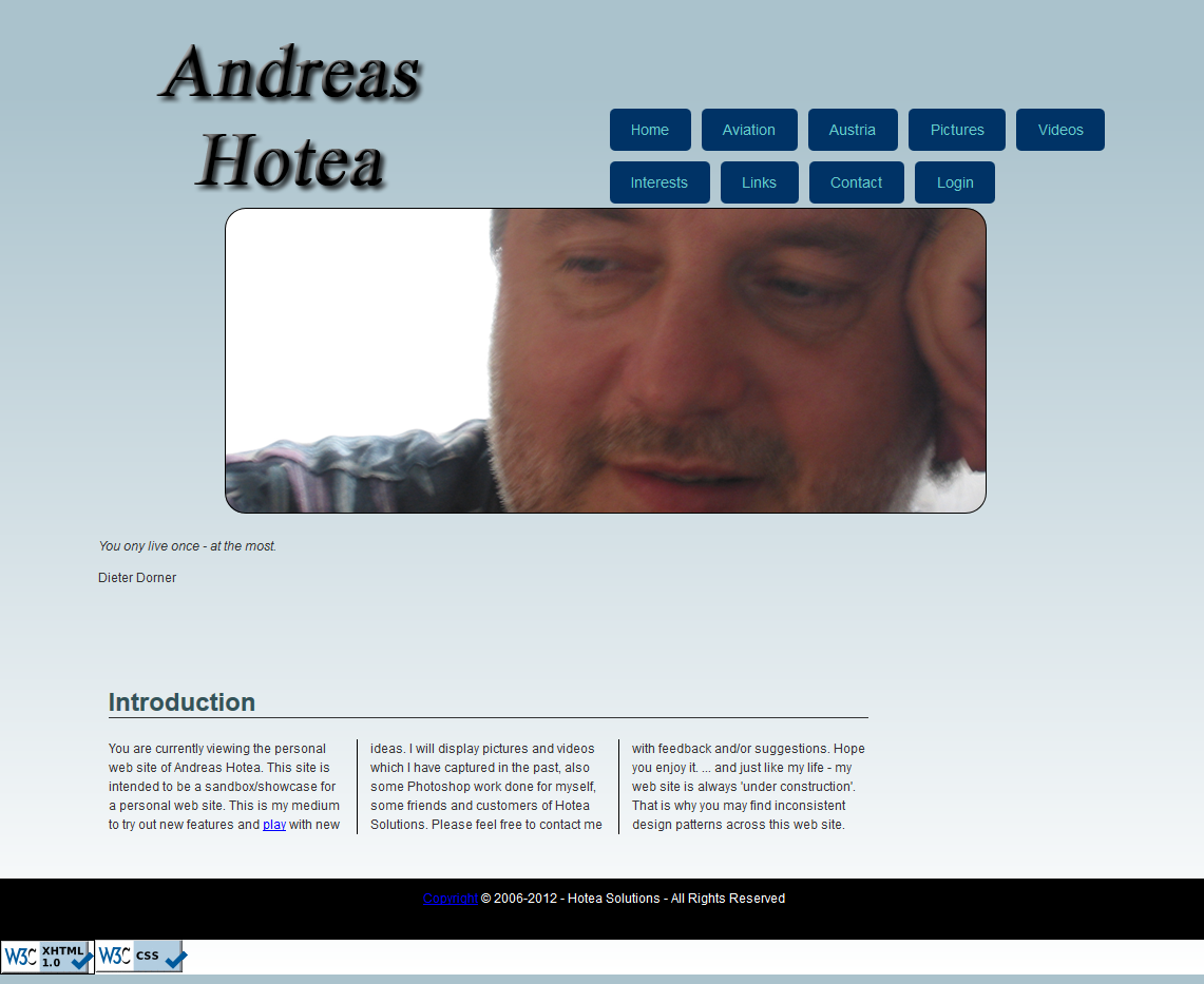 Screenshot AndreasHotea.com